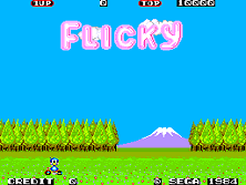 Flicky (128k Version, 315-5051) Title Screen