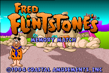 Fred Flintstones' Memory Match (Mandarin Chinese, 3/17/95) Title Screen
