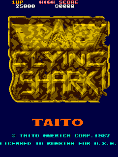 Flying Shark (bootleg with 8741) Title Screen