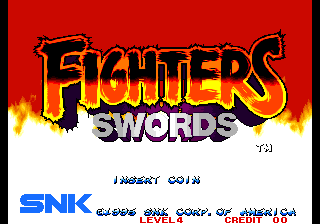 Fighters Swords (Korean Release of Samurai Shodown III) Title Screen