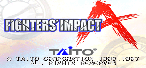 Fighters' Impact A (Ver 2.00J) Title Screen