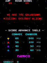 Galaxian (Namco set 1) Title Screen