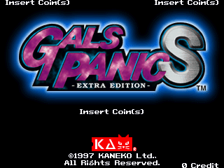 Gals Panic S - Extra Edition (Korea) Title Screen