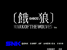 Garou - Mark of the Wolves (NGM-2530) Title Screen