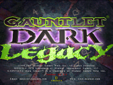 Gauntlet Dark Legacy (version DL 2.52) Title Screen