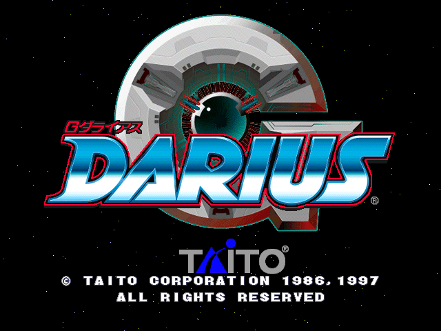 G-Darius (Ver 2.01J) Title Screen