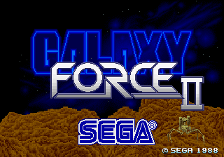 Galaxy Force 2 (Japan) Title Screen