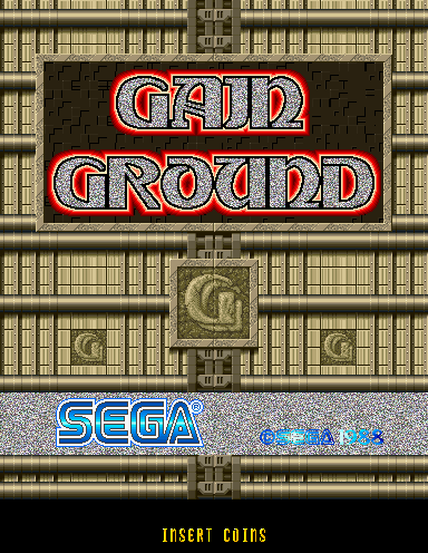 Gain Ground (Japan, 2 Players, Floppy Based, FD1094 317-0058-03b) Title Screen