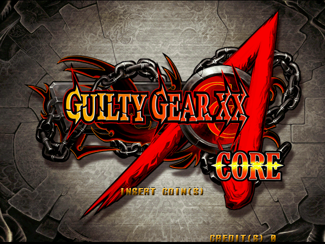Guilty Gear XX Accent Core (Japan) (GDL-0041) Title Screen