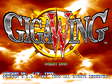 Giga Wing (USA 990222) Title Screen