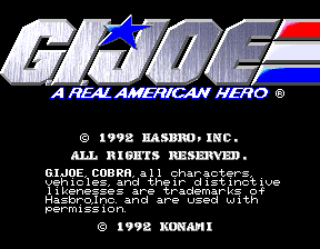 G.I. Joe (Japan, JAA) Title Screen