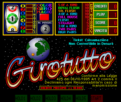 GiroTutto Title Screen