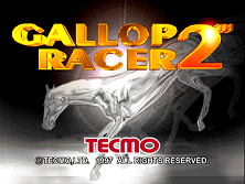 Gallop Racer 2 (Export) Title Screen