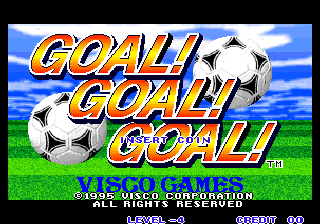 Goal! Goal! Goal! Title Screen