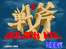Golden Axe (set 6, US) (8751 317-123A) Title Screen