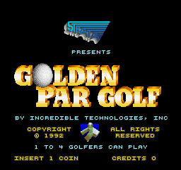 Golden Par Golf (Joystick, V1.1) Title Screen