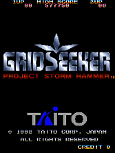 Grid Seeker: Project Storm Hammer (Ver 1.3O) Title Screen
