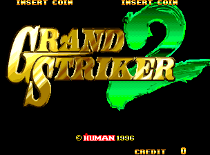 Grand Striker 2 (Europe and Oceania) Title Screen