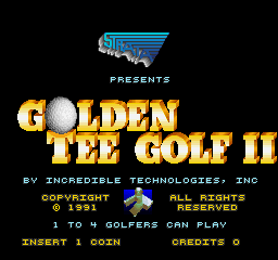 Golden Tee Golf II (Joystick, V1.0) Title Screen