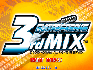 Guitar Freaks 3rd Mix (GE949 VER. JAC) Title Screen