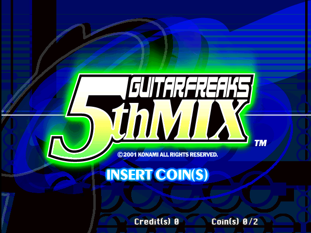 Guitar Freaks 5th Mix (G*A26 VER. JAA) Title Screen