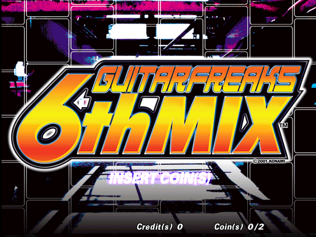 Guitar Freaks 6th Mix (G*B06 VER. JAA) Title Screen