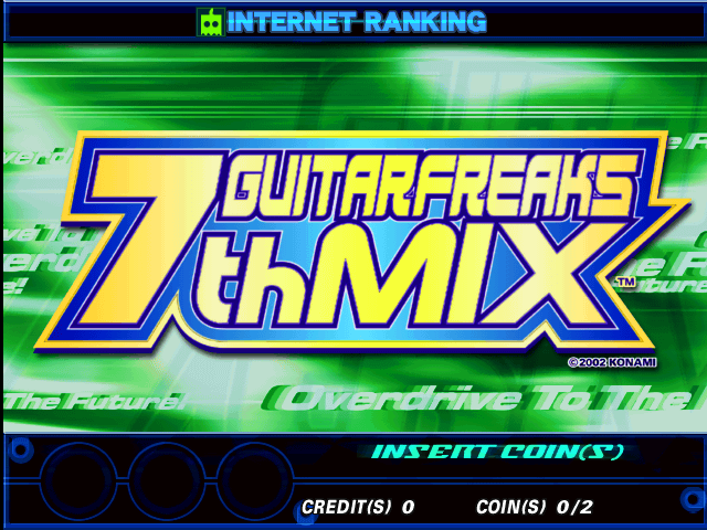 Guitar Freaks 7th Mix (G*B17 VER. JAA) Title Screen