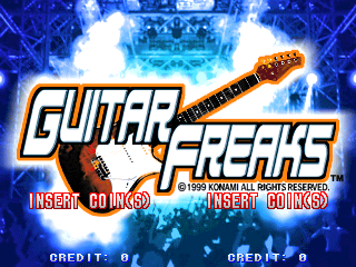 Guitar Freaks (GQ886 VER. EAC) Title Screen
