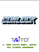 Gunlock (Ver 2.3O 1994/01/20) Title Screen