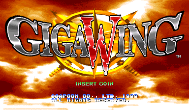 Giga Wing (Japan 990223 Phoenix Edition) (Bootleg) Title Screen