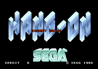 Hang-On (Rev A) Title Screen
