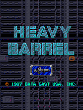 Heavy Barrel (US) Title Screen
