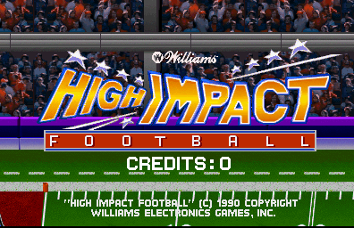 High Impact Football (rev LA2 12/26/90) Title Screen