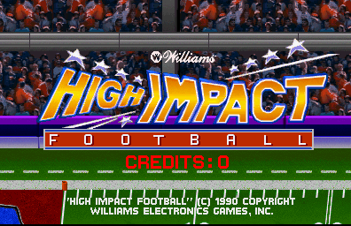 High Impact Football (rev LA4 02/04/91) Title Screen
