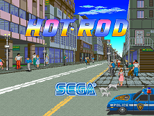 Hot Rod (World, 3 Players, Turbo set 1, Floppy Based) Title Screen