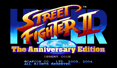 Hyper Street Fighter II: The Anniversary Edition (Asia 040202) Title Screen