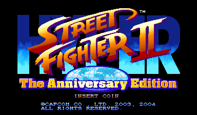 Hyper Street Fighter II: The Anniversary Edition (Japan 040202) Title Screen