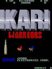 Ikari Warriors (US JAMMA) Title Screen