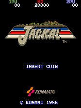 Jackal (World, 8-way Joystick) Title Screen