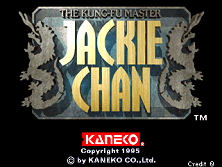 Jackie Chan - The Kung-Fu Master Title Screen
