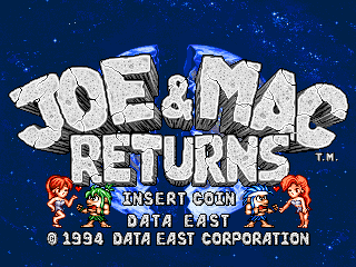 Joe & Mac Returns (World, Version 1 1, 1994 05 27) ROM < MAME ROMs