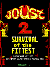 Joust 2 - Survival of the Fittest (revision 2) Title Screen