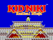 Kid Niki - Radical Ninja (World) Title Screen