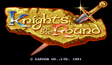 Knights of the Round (World 911127) Title Screen