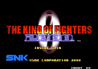 The King of Fighters 2000 Title Screen