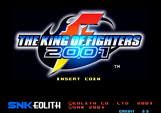 The King of Fighters 2001 (NGM-262?) Title Screen