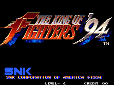 The King of Fighters '94 Title Screen