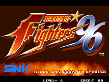 The King of Fighters '96 (Set 1) Title Screen
