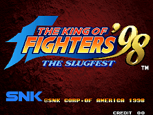 The King of Fighters '98: The Slugfest / King of Fighters '98: Dream Match Never Ends Title Screen
