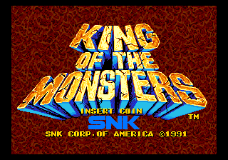 King of the Monsters (set 1) Title Screen